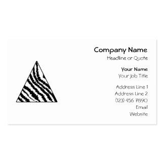 Black and White Zebra Stripe Triangle. Monochrome. Pack Of Standard Business Cards