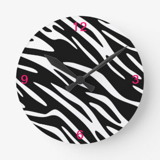 Black and White Zebra Stripe Wall Clock
