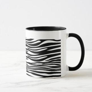 Black and White Zebra Striped Mug