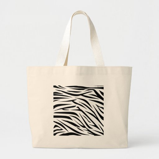 Black and White Zebra Stripes Canvas Bags
