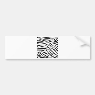 Black and White Zebra Stripes Bumper Stickers