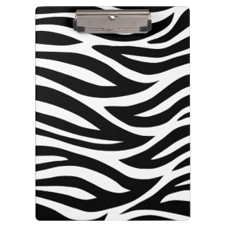 Black and White Zebra Stripes Clipboard