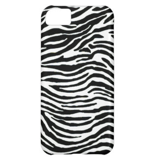 black and white zebra stripes iPhone 5C case