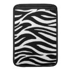 Black and White Zebra Stripes MacBook Sleeve