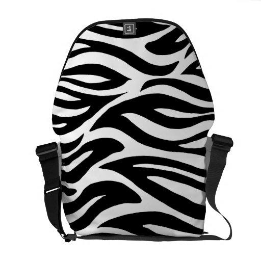 Black and White Zebra Stripes Courier Bag