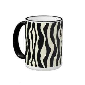 Black And White Zebra Stripes Pattern Mug
