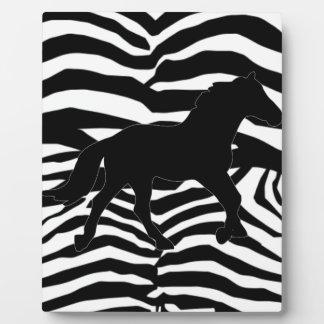 Black And White Zebra Stripes Plaque