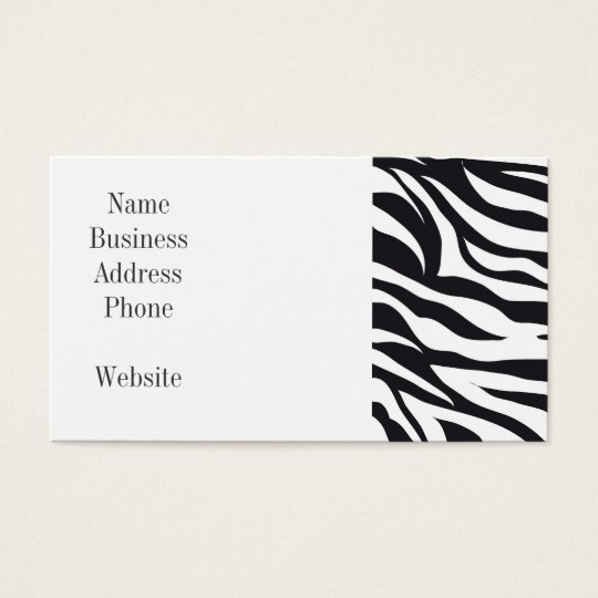 Black and White Zebra Stripes Print Pattern Gifts Business Card