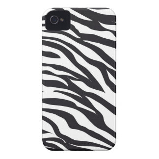 Black and White Zebra Stripes Print Pattern Gifts iPhone 4 Cases