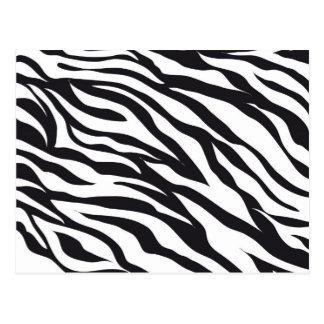 Black and White Zebra Stripes Print Pattern Gifts Postcard