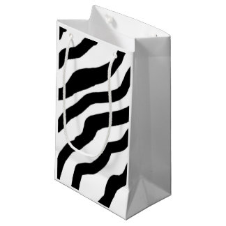 Black and White Zebra Stripes Small Gift Bag