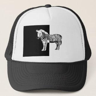 Black and white zebra trucker hat