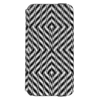 Black and White Zig Zag Incipio Watson™ iPhone 6 Wallet Case