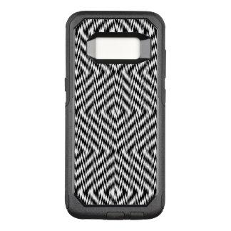 Black and White Zig Zag OtterBox Commuter Samsung Galaxy S8 Case