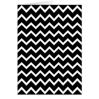 Black and White Zig Zag Pattern. Greeting Card