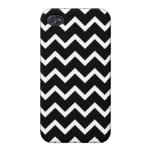 Black and White Zig Zag Pattern. Cases For iPhone 4