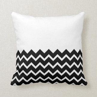 Black and White Zig Zag Pattern. Part Plain. Throw Pillow