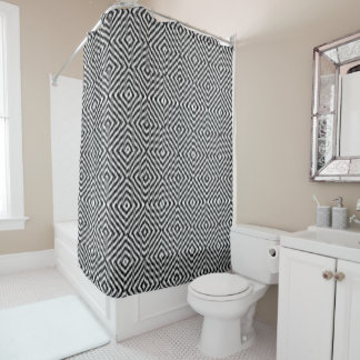 Black and White Zig Zag Shower Curtain