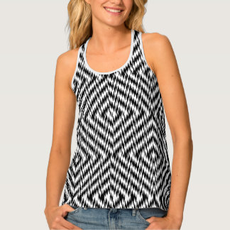 Black and White Zig Zag Tank Top