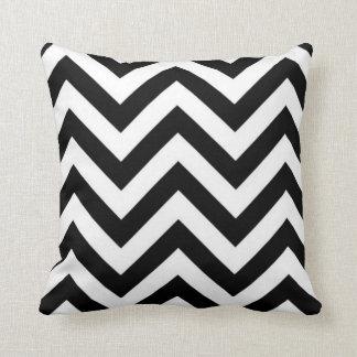 Black And White Zig Zags Cushion