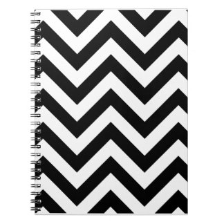 Black and white  Zigzag Chevron Pattern Notebook