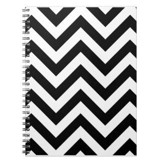 Black and white  Zigzag Chevron Pattern Notebooks