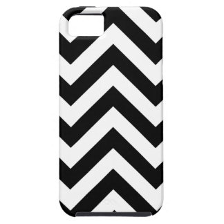 Black and white  Zigzag Chevrons Pattern Case For The iPhone 5