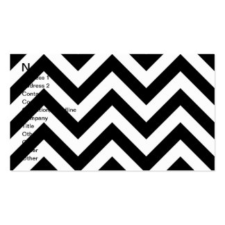 Black and white  Zigzag Chevrons Pattern Pack Of Standard Business Cards