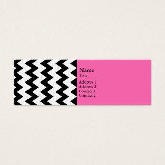Black and White Zigzag Mini Business Card