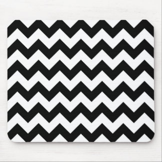 Black and White Zigzag Mouse Mat