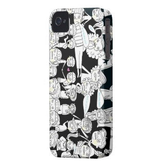 black and white zombie people iPhone 4 case