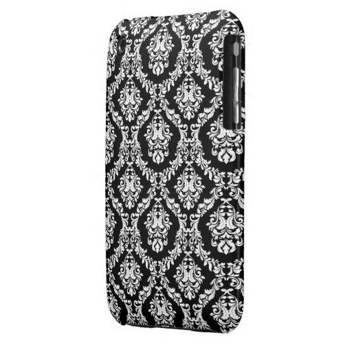 Black and WhiteDamask Design Blackberry Curve case