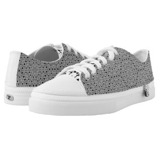 Black and Whites! Low Tops Printed Shoes