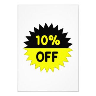 Black and Yellow 10 Percent Off Custom Invite