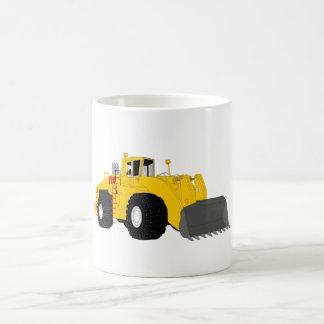Black and Yellow Bulldozer Construction Machine Basic White Mug