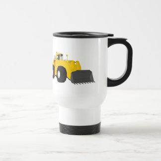 Black and Yellow Bulldozer Construction Machine Stainless Steel Travel Mug