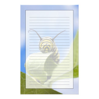Black and yellow caterpillar custom stationery