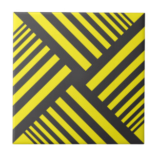 black and yellow cross background small square tile