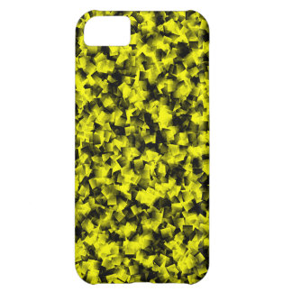 Black and Yellow cubism Cover For iPhone 5C
