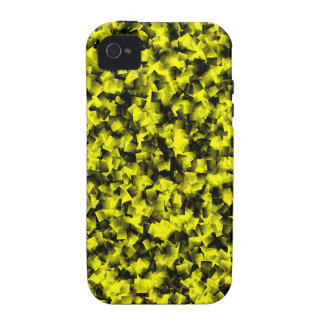 Black and Yellow cubism iPhone 4/4S Cases