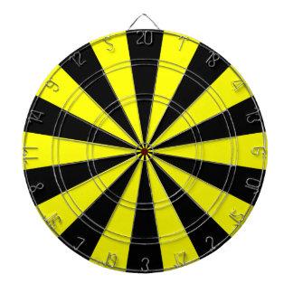 Black and Yellow Dartboard