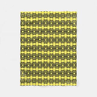 Black And Yellow Fleece Blanket