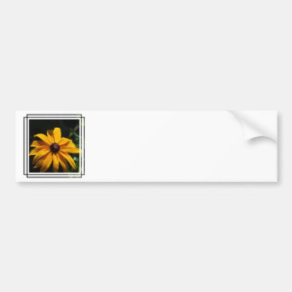 Black and Yellow Flower Bumper Sticker