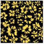 Black and Yellow Flowers. Cut Out