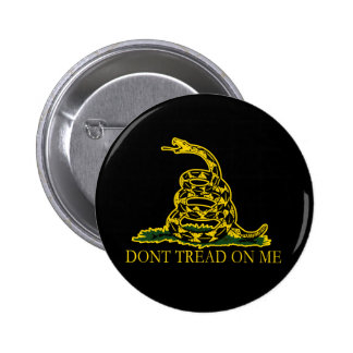 Black and Yellow Gadsden Flag, Don't Tread on Me! 6 Cm Round Badge