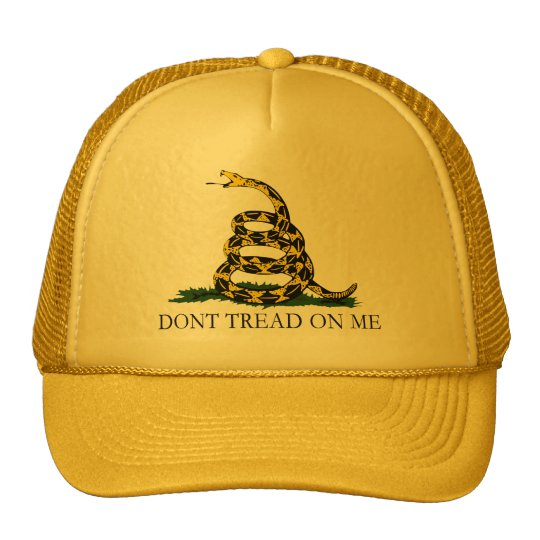 Black and Yellow Gadsden Flag, Don't Tread on Me! Cap
