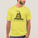 Black and Yellow Gadsden Flag, Don't Tread on Me! T-Shirt