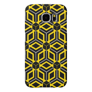Black and yellow geometric pattern case