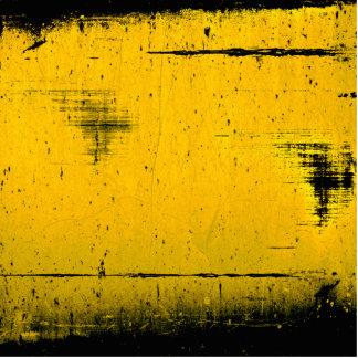Black and Yellow Grunge Texture Standing Photo Sculpture