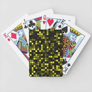 Black And Yellow Meteor Shower Squares Pattern Bicycle Poker Cards
